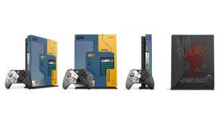 Xbox One X в стиле Cyberpunk 2077